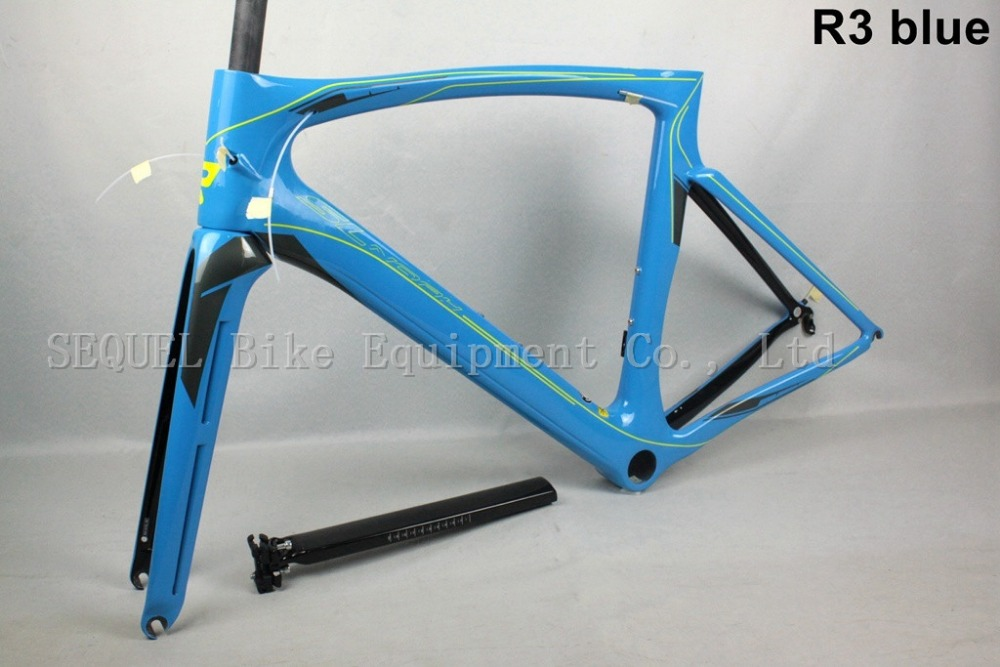 2016 T800 Carbon road frame bike R3 blue,Full Carbon frame road,cheap road bike frame free shipping,2 years warranty(China (Mainland))