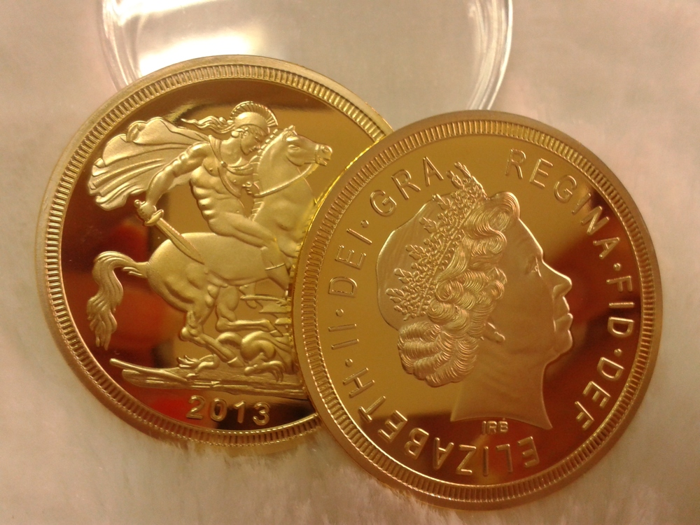1oz Uk British Sovereign Gold Coin St George Slaying