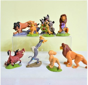 Пвх аниме рисунок игрушки в лев King симба Mufasa нала гиены тимон пумба Sarabi Sarafina шрам 8 см 9 шт. / комплект