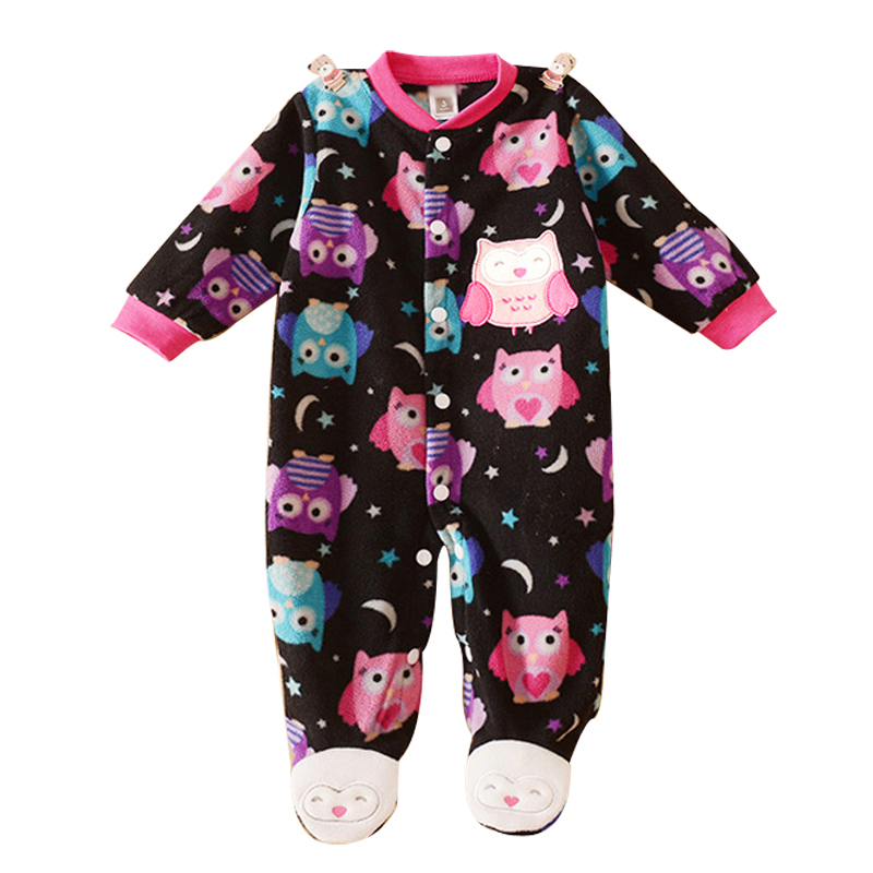 Unisex Baby Clothes Baby Boy Girl Footed Rompers Infant Animal Baby Romper Long Sleeve Fleece Sleep Clothes Baby Pajamas Newborn(China (Mainland))
