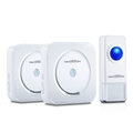 PATUOXUN IP55 Waterproof Wireless Doorbell 300M Range with 52 Chimes Tone 4 Level Volume with 1