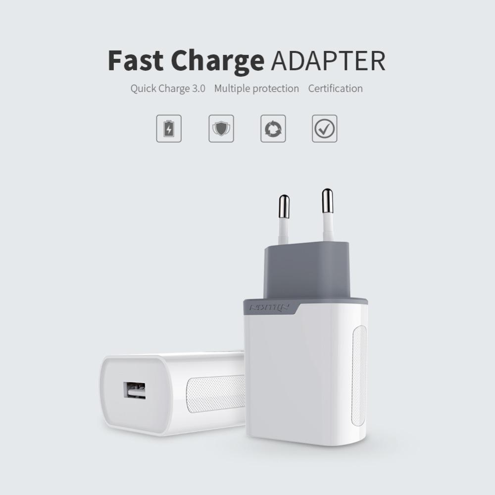 Original Nillkin 3A Quick charge 3.0 EU/US/UK Europe Standard USB Plug Power Wall Charger For Samsung S7(China (Mainland))