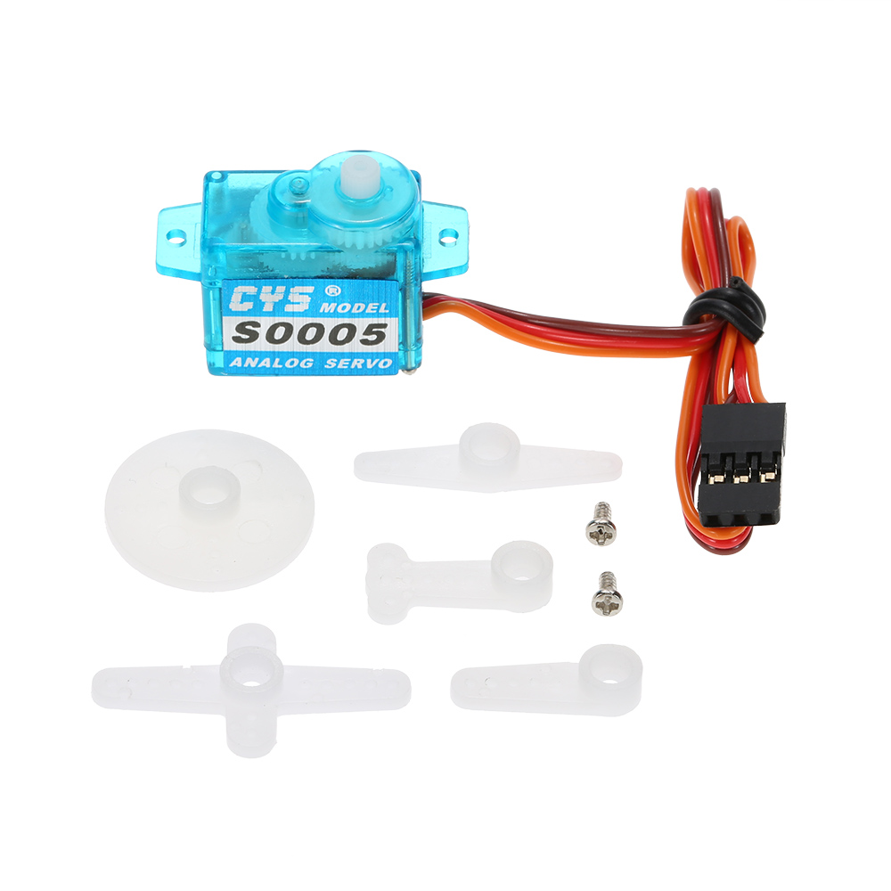 CYS-S0005 5g Light Weight Plastic Gear Micro Analog Standard Servo for RC Fixed-wing Aircraft(China (Mainland))