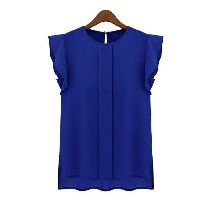 Shirt Blusas OL Camisa Feminina Mujer Summer Style Blouse 2015 Summer Style Vetement Femme Tops Roupas Women Plus Size 4
