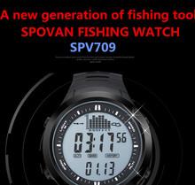 2015 new Fishing Watch Barometer Waterproof Thermometer Altimeter men Military sports Wristwatches SPOVAN Digita Stainless steel