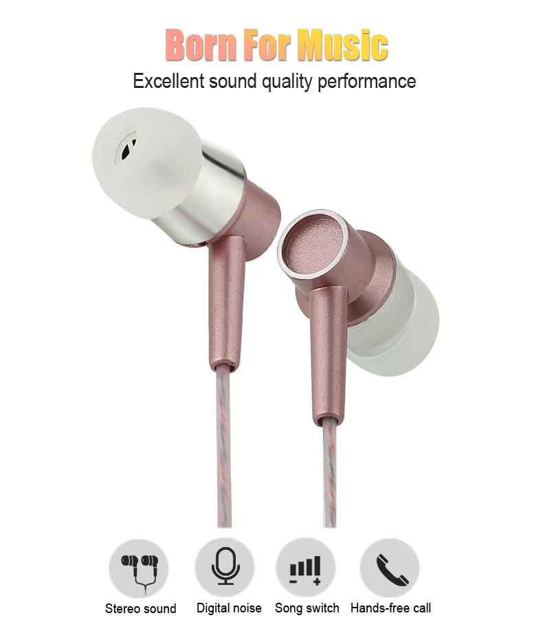 Perfume earphones Stereo Metal Original Brand Earset Super Good Quality Headset with Microphone for PC Xiaomi smart phone(China (Mainland))