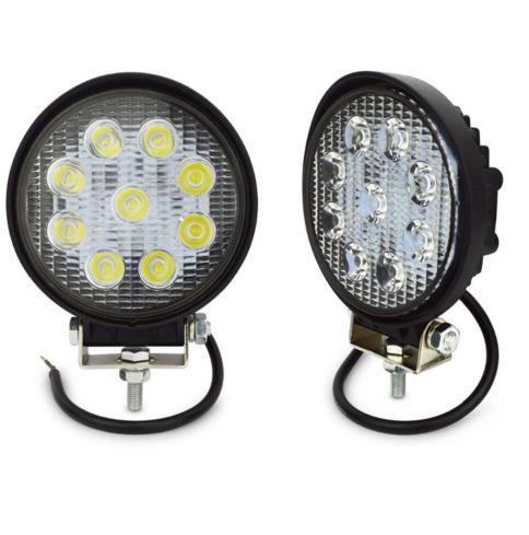 2pcs 4 Inch 27W LED WORK LAMP 12V 24v FLOOD BEAM 4x4 OFF ROAD ATV TRUCK BOAT UTV LED DRIVING LIGHT 27w led round fog lights(China (Mainland))