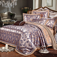 Cotton satin jacquard lace hemp Purcell 4pcs bedclothes bed linen sets Quilt/duvet cover set bedsheets cotton bedcover parure(China (Mainland))