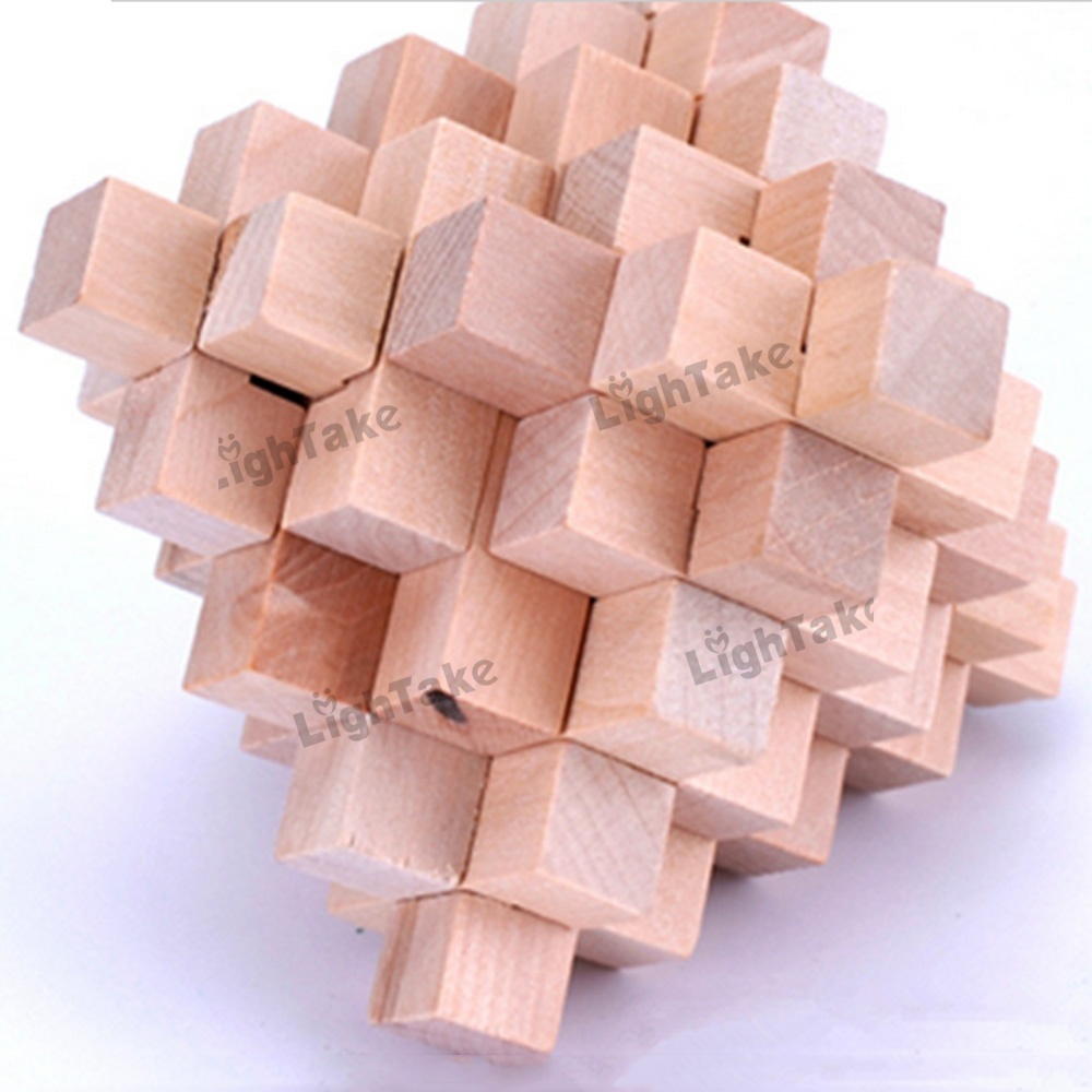 32 Sticks Large Pineapple Balls Wooden Cube/Educational Toy Wooden Puzzle Set,Kong Ming/Luban Lock for Adult Children(China (Mainland))