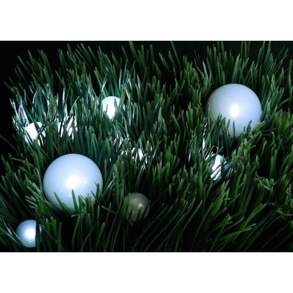 12Pcs/lot Party Outdoor Decorative Battery Operated Mini Led Round Light Ball(China (Mainland))