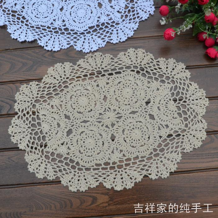Free shipping oval flowers lace felt fabric doilies as pot  : Free shipping oval flowers lace felt fabric doilies as pot holder innovative item for dinning table from www.aliexpress.com size 700 x 700 jpeg 115kB