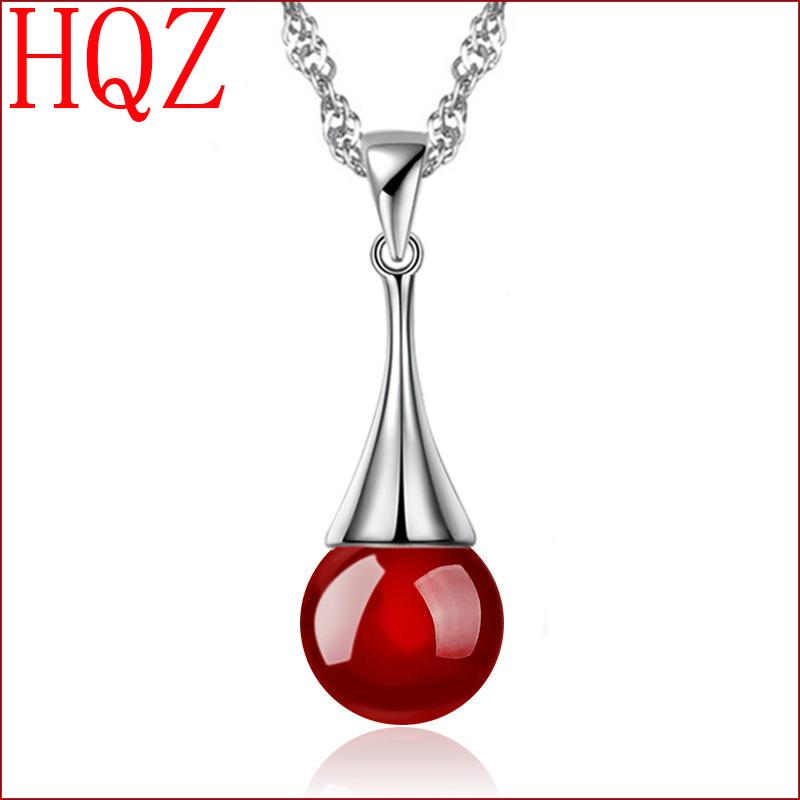 silver plated crystal pendant necklace girls favorite column teardrop-shaped pendant onyx black onyx 2.5CM + 0.8CM (no chains)(China (Mainland))