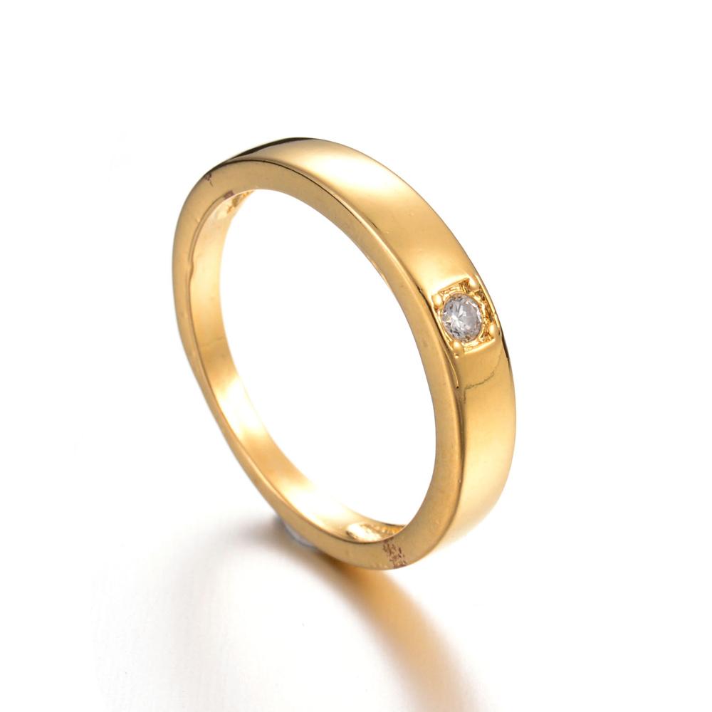 2016 Cheap Women Finger Rings 18K Gold Plated Love Engagement Wedding Rings For Women CZ Diamond