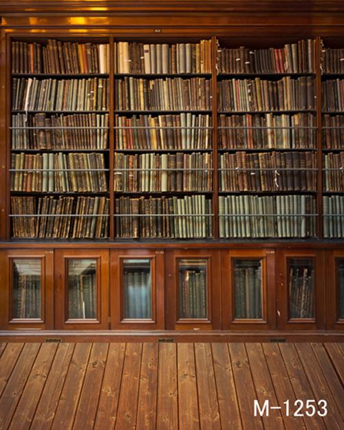 ... studio Cloth photography background book shelf wood floor wooden floor