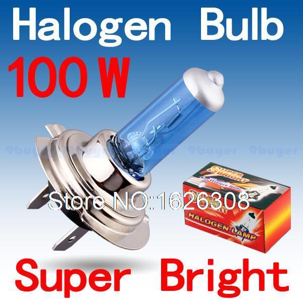 2pcs H7 100W 12V Super Bright White Fog Lights Halogen Bulb High Power Car Headlights Lamp Car Light Source parking 6000K(China (Mainland))