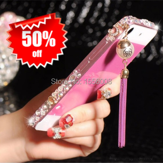 Huawei Honor 4 Play Case Pearl Crystal Diamond Bling Case For Huawei Ascend G620S G621 Luxury Metal Bumper Back Cover Girl Gift