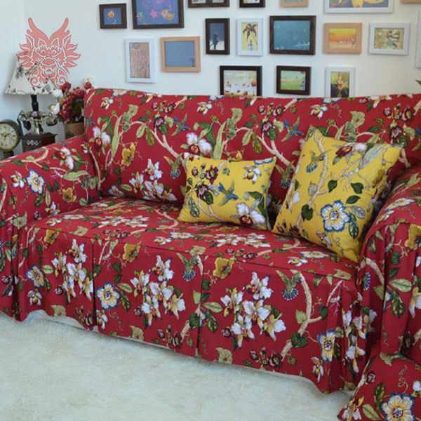 200 320cm 2015 new fashion home textile flower print 100 cotton sofa cover modern style sofa. Black Bedroom Furniture Sets. Home Design Ideas