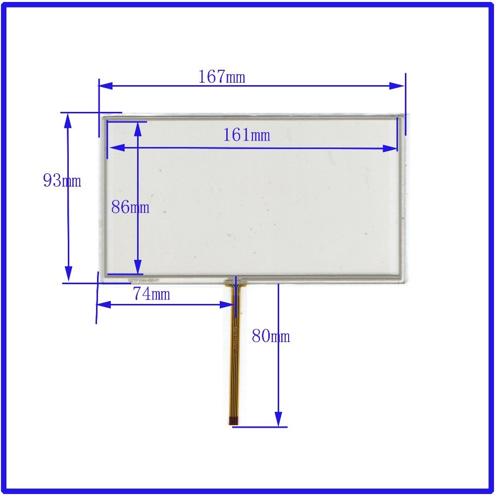 New 7 inch TOUCH Screen panels 167mm 93mm for GPS or commercial use post