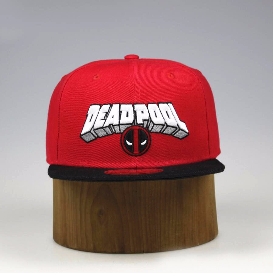 Deadpool Snapback Cap 2016 New Design Anime Comic Marvel Hip Hop Hat Casual Baseball Caps For Men Women Outdoor High Quality Cap