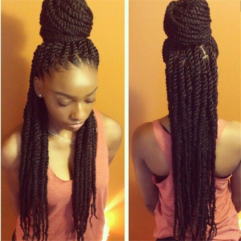 ... Braids Havana Mambo Twist Crochet Braid Hair 24Inch-in Bulk Hair from