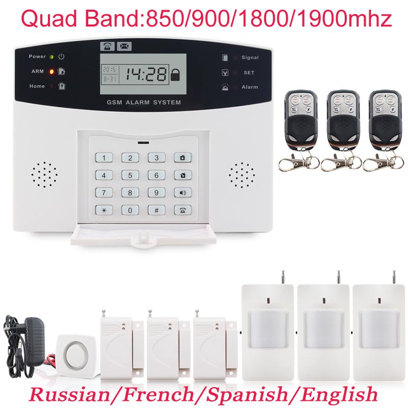 Фотография EU UK AU US Plug Alarm Systems Security Home GSM 433MHZ ON SALE