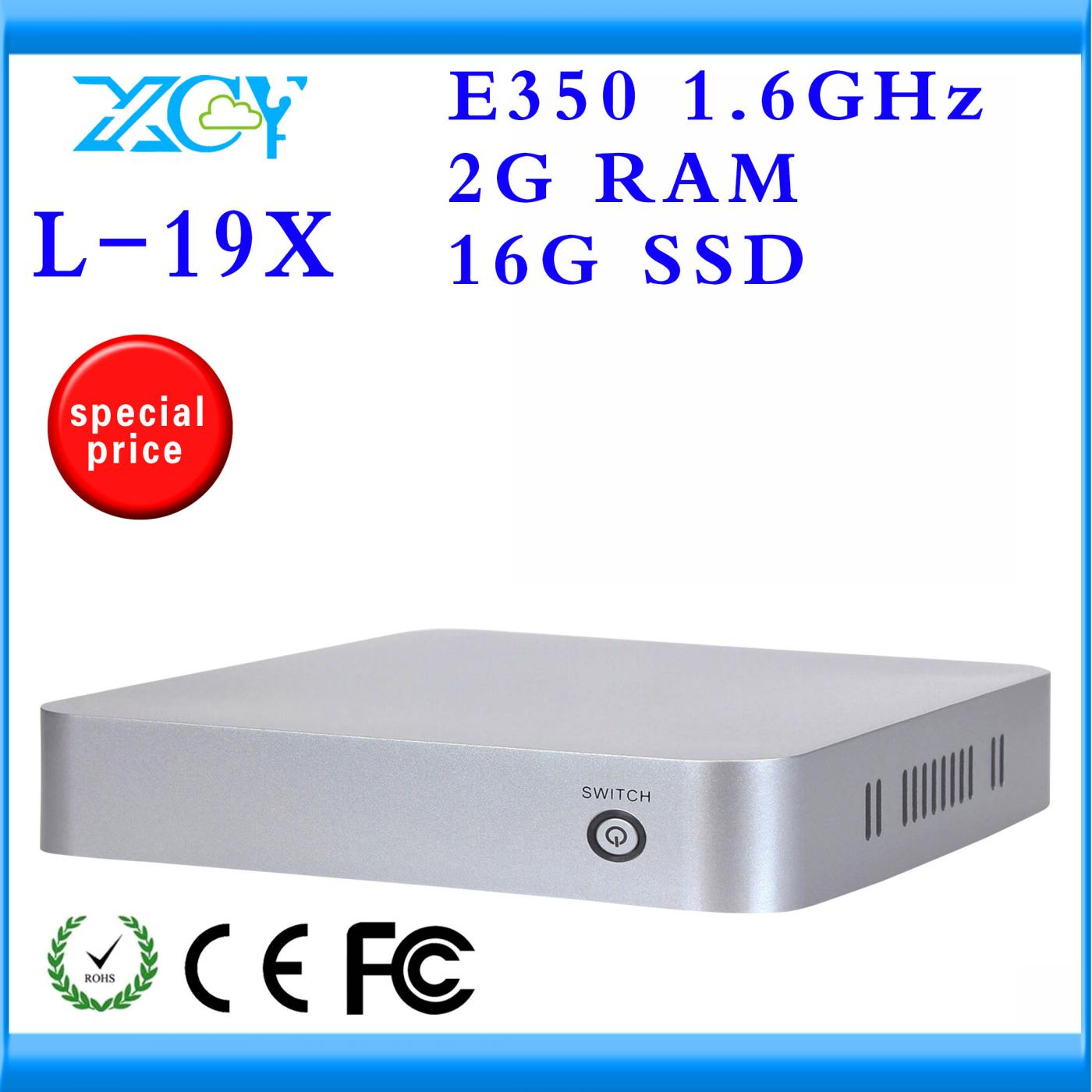 XCY thin client atom desktop pc XCY L-19X AMD E350 Dual core 1.6GHZ 19.7*19.7*4cm Dimension support full-screen movies(China (Mainland))