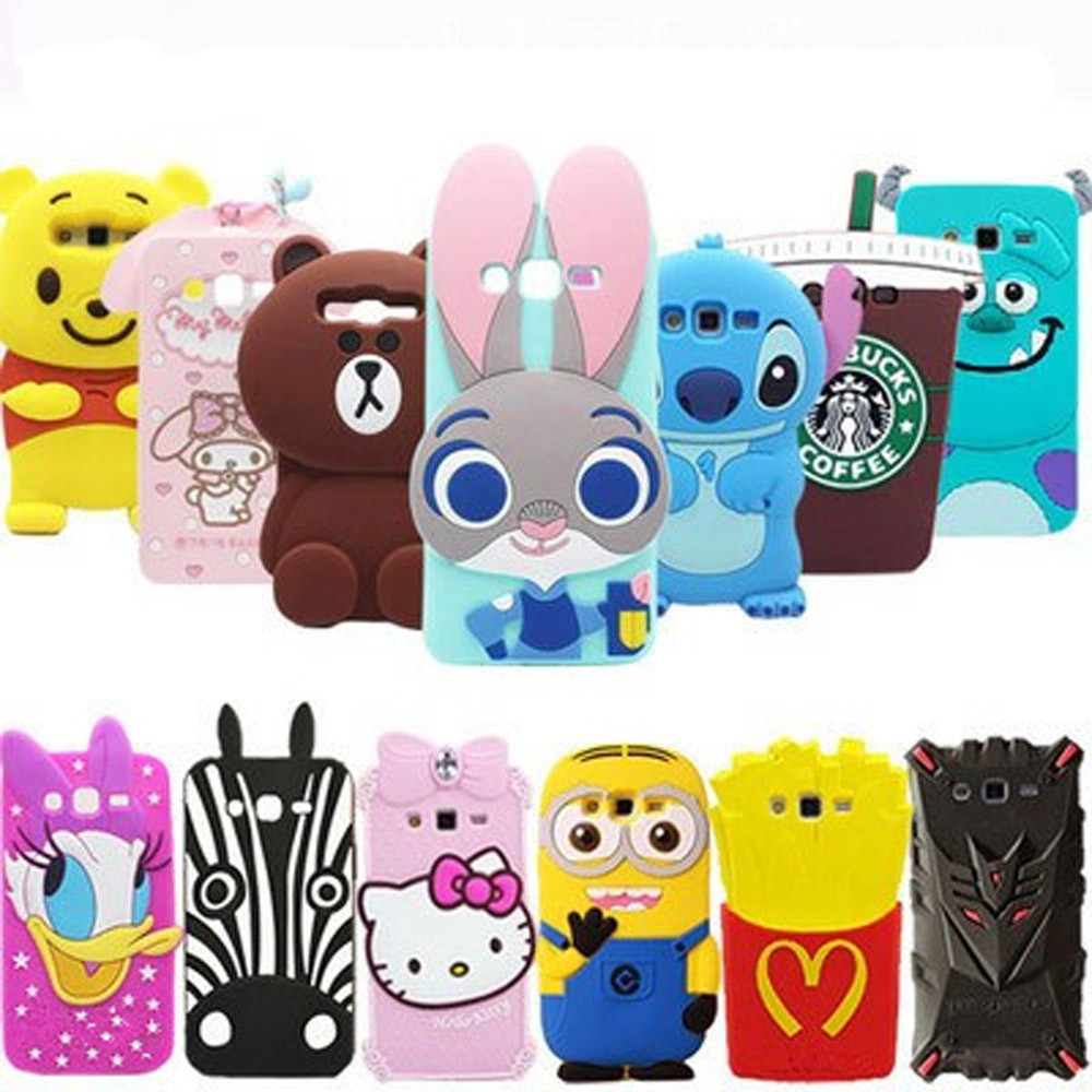 3D Cartoon Stitch Case For Samsung Galaxy Grand 2 duos G7106 7102 G7108 Cute Soft Silicone Phone Cover(China (Mainland))