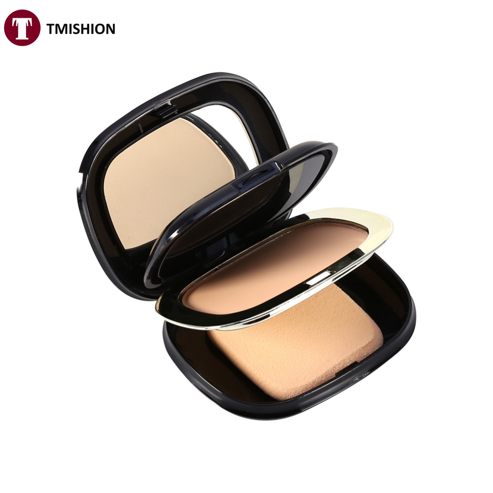 Perfect 2 Layers+Powder puff+Mirror For Women Face Foundation Contour Dry/Wet Powder Makeup Palette Skin Foundation Base(China (Mainland))