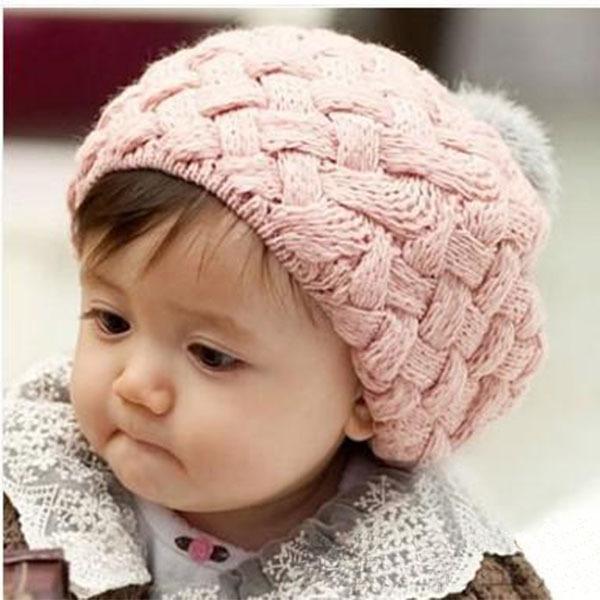 Kids Girls Baby Handmade Crochet Knitting Beret Hat Cap Cute Warm Beanie 4Colors XL145 Free Shipping Drop Shipping<br><br>Aliexpress
