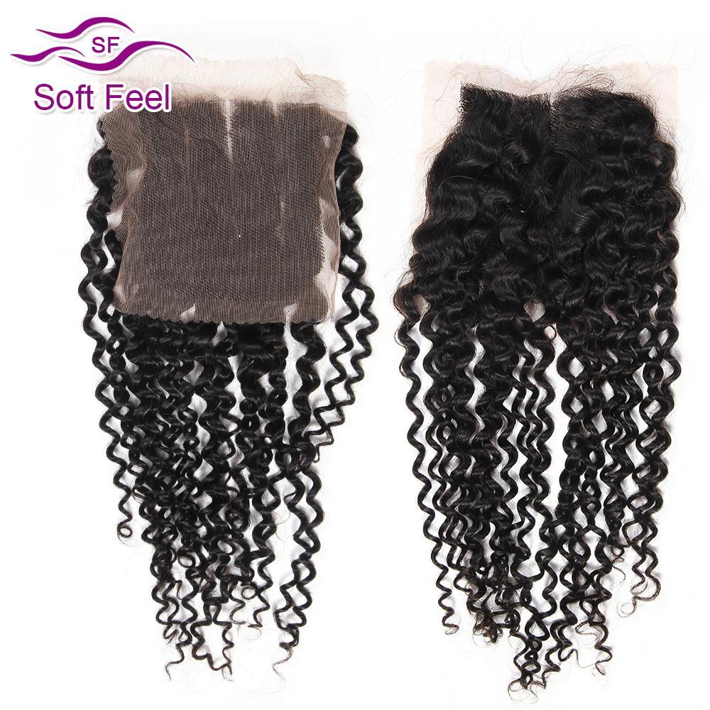 7a Virgin Malaysian Curly Hair Closure Kinky Curly Closure Human Hair Weave Virgin Malaysian Curly Lace Closure Kinky Curly 4x4(China (Mainland))