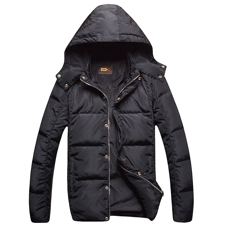 Zil i down jacket coat outerwear men's clothing commercial 2015 fashionable casual comfortable thick thermal black free shipping(China (Mainland))