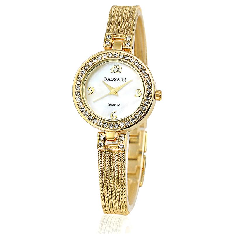 BAOSAILI Brand Gold Watch Women Full Steel Quartz Watches Fashion Casual Luxury Women's Wrist Watches Relogio Feminino BS021
