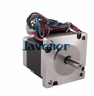 Фотография HSTM60 Stepping Motor DC Two-Phase Angle 1.8/2A/3.36-6.72V/8 Wires/Single Shaft
