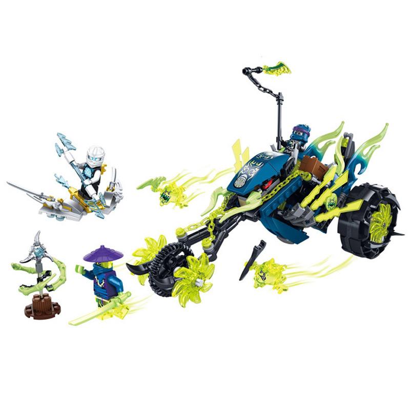 bricks NINJAGO building block toys Ninja Zane Motorcycle model Minifigures Kids DIY Gift Compatible Lego