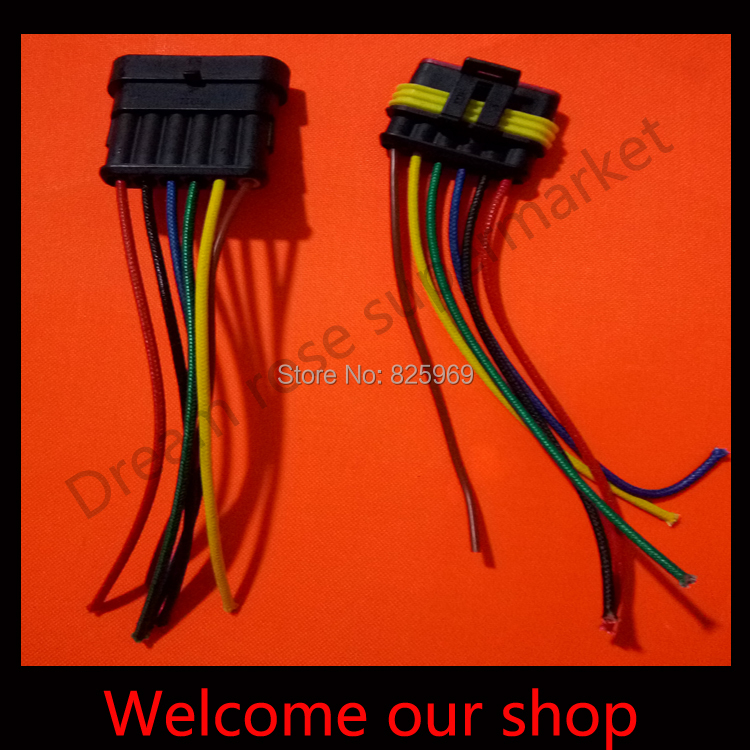 5 sets DJ7051-1.5 6Pin car connector with 10cm wire ,car oxygen sensor plug,Car waterproof electrical connector for car ect.<br><br>Aliexpress