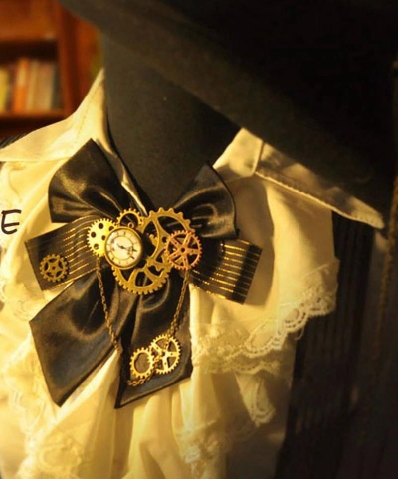1pc Steampunk Bow Neck tie Industrial Victorian