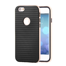 Luxury Striped Leather Phone Cases for iPhone6 6S 4.7 6Plus 5.5 5 5S SE Hybrid TPU Cover Case for iPhone 6 6S Protective Shell
