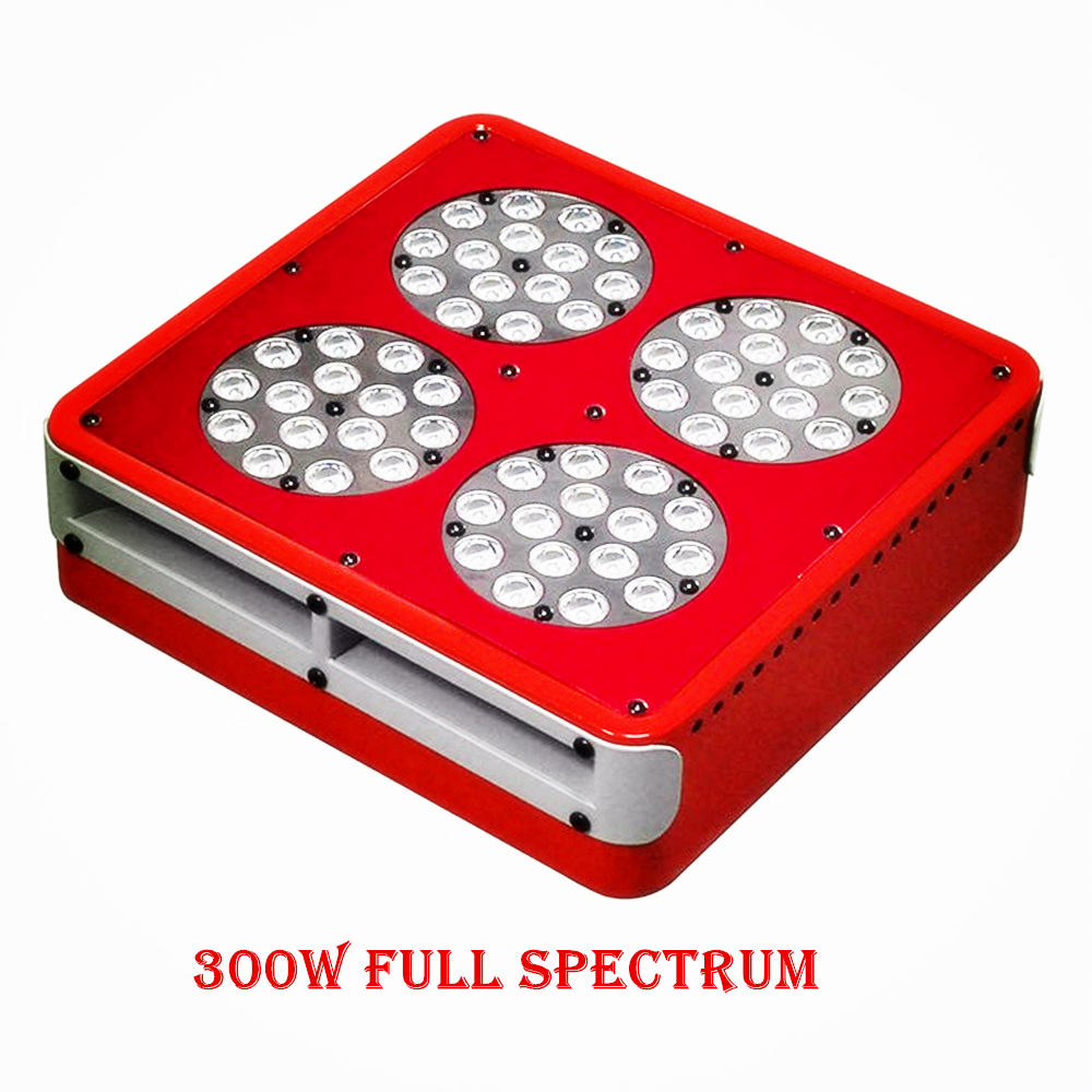 Multi-Grow Lights LED Apollo 300W Grow Light Kit Full Spectrum With Lens Pants Grow Faster Flower Bigger High Yield Hot(China (Mainland))