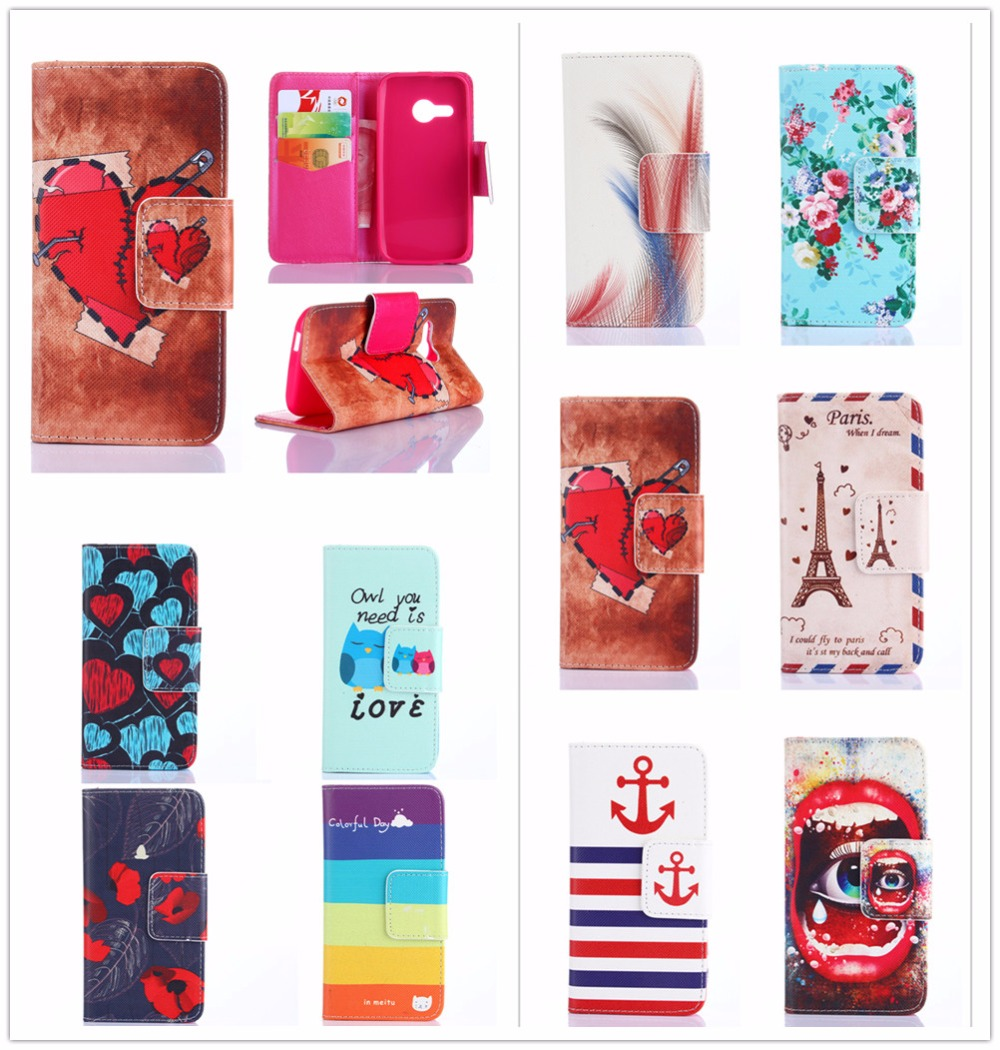 Leather Case for HTC One mini 2 mini2 / M8 mini M8mini Painting Case Wallet Magnetic Flip Phone Cover for HTC One Remix(China (Mainland))