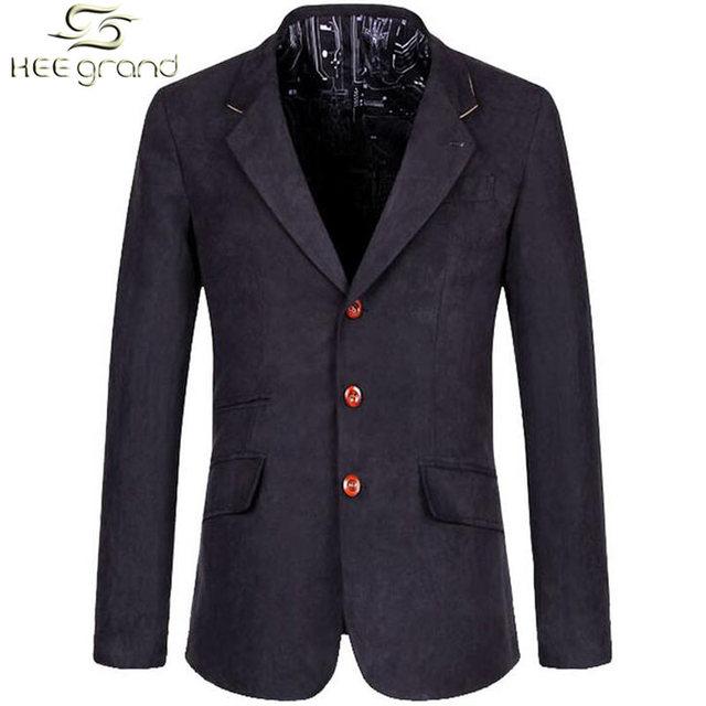 Мужская свободного покроя пиджаки горячая распродажа костюм отдыха мода тонкие облегающие ...