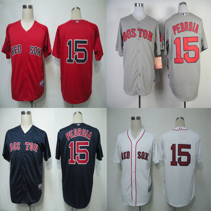 Best Seller Low Price / #15 Dustin Pedroia Jersey Boston Red Sox Jersey Embroidery Logo Sports Sportswear Baseball Jerseys Free