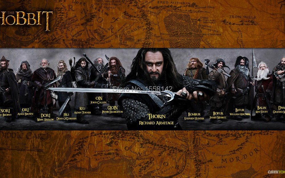 Free shipping HD Posters Lord of the Rings map HOBBIT silk cloth Dimensions: 24x36 inches(China (Mainland))