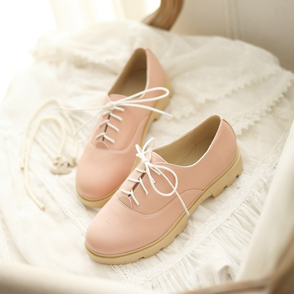 2015 spring and summer oxford shoes lace-up simple Korea Institute of style women oxford shoes Comfortable and breathableE872<br><br>Aliexpress