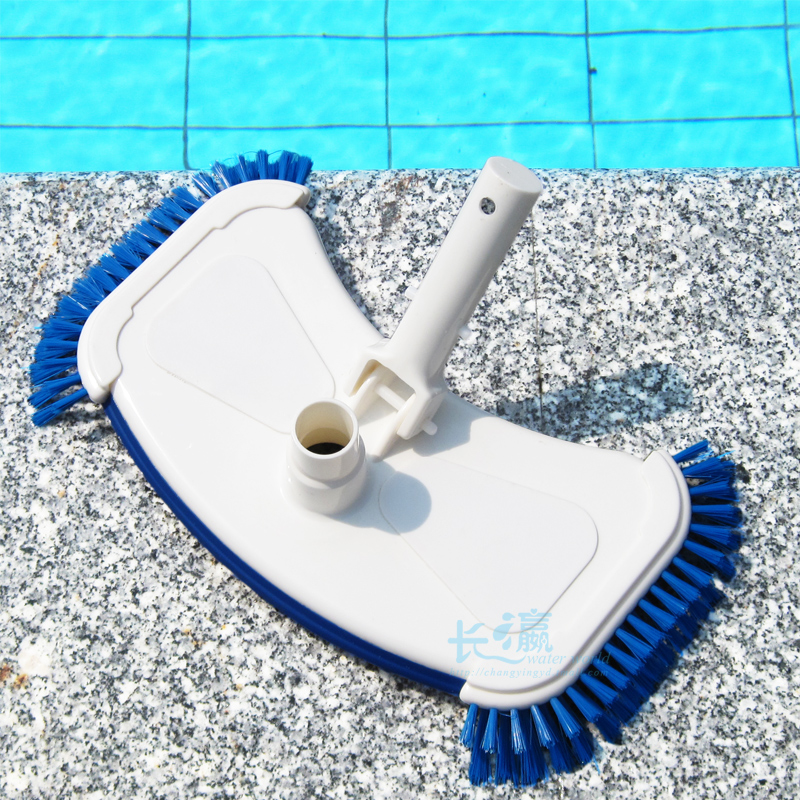 Aquionics swimming pool plate cleaning tools swimming pool vacuum head with side brush(China (Mainland))