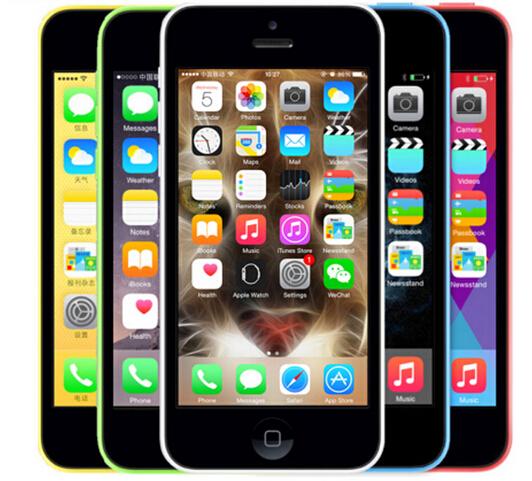 "Unlocked Original Apple iphone 5C Cell Phone 4"" Retina 1GB RAM 16GB ROM 8MP Camera 1080P WCDMA IOS Multi-Language(China (Mainland))"