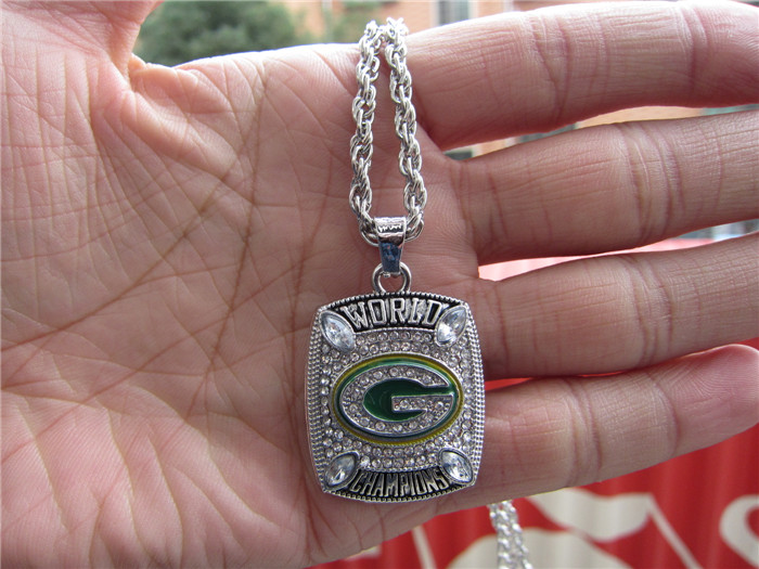High quality 2010 GREEN BAY PACKERS SUPER BOWL CHAMPIONSHIP Pendant Necklace With 24 inches Chain Fan Brithday Gift(China (Mainland))