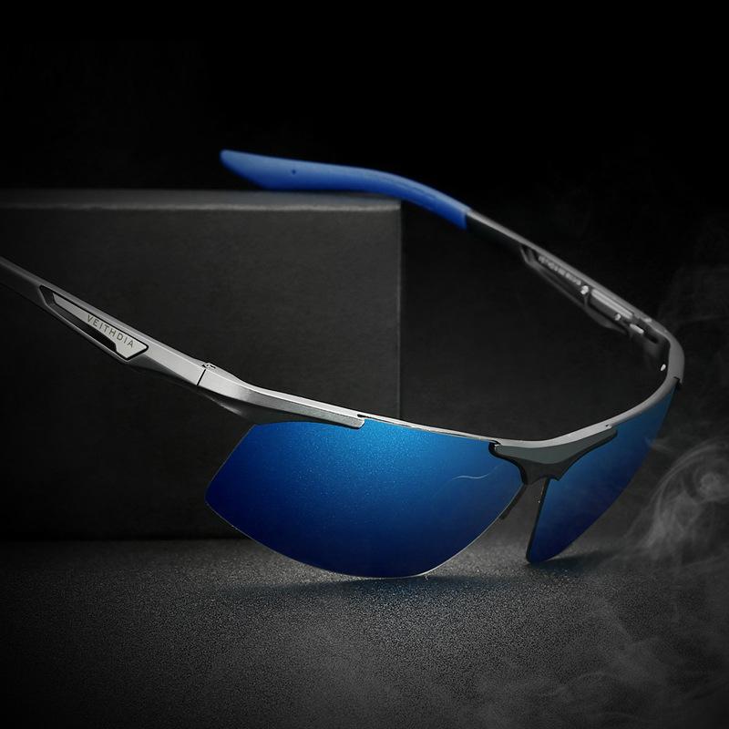 Veithdia Aluminum Magnesium Alloy Frame Brand Sunglasses With Original Box Men Polarized Fishing Coating HD Uv400 Sunglass 6562(China (Mainland))