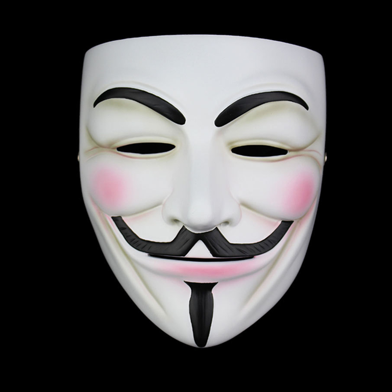 High Quality V For Vendetta Mask Resin Collect Home Decor Party Cosplay Lenses Anonymous Mask Guy Fawkes(China (Mainland))