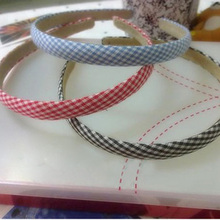 Min.order is $15 (mix order) Freeshipping! NEW high quality chequer hair hoop / Hair Accessories for girls /wholesale 675