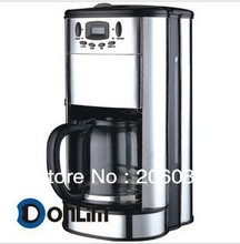 Drip coffee maker with grinder,large capacity,and with stainless steel finishing,high quality(China (Mainland))